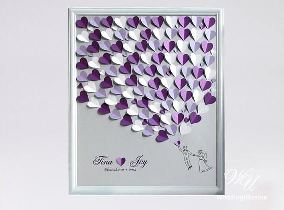 Wedding Guest Book Ideas Silver and Purple Weddings Tree