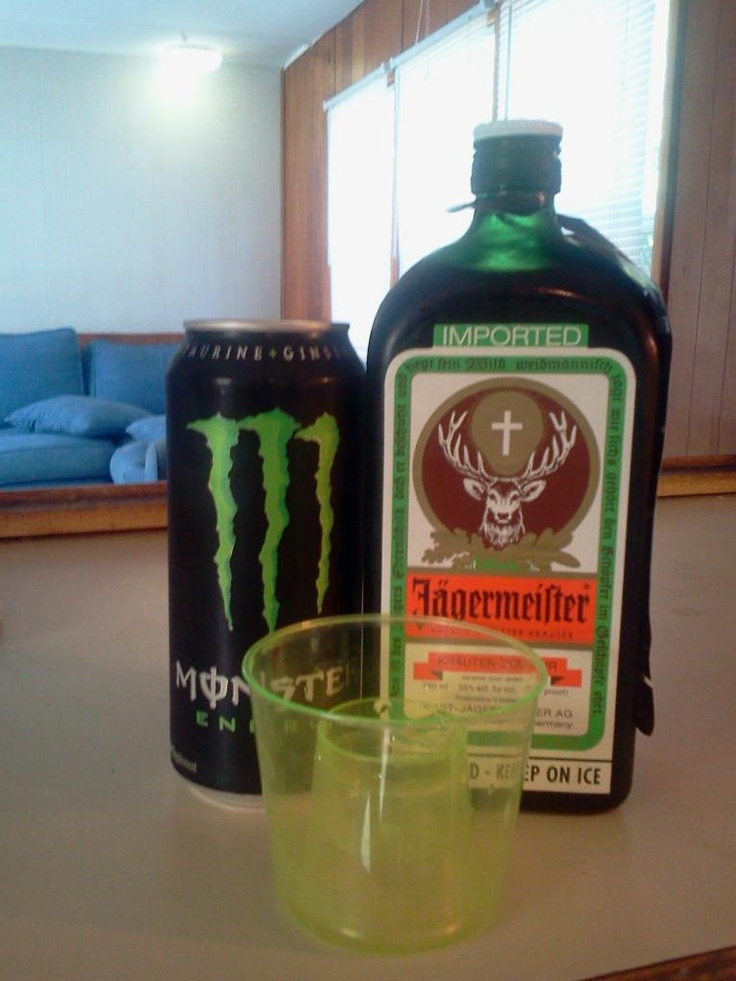 jager bombs with monster XD
