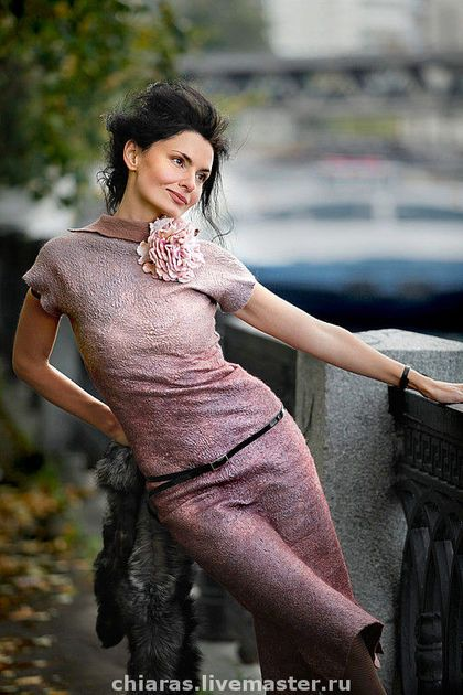 Платья ручной работы. Ярмарка Мастеров - ручная работа платье ручной работы розовый жемчуг. Handmade.