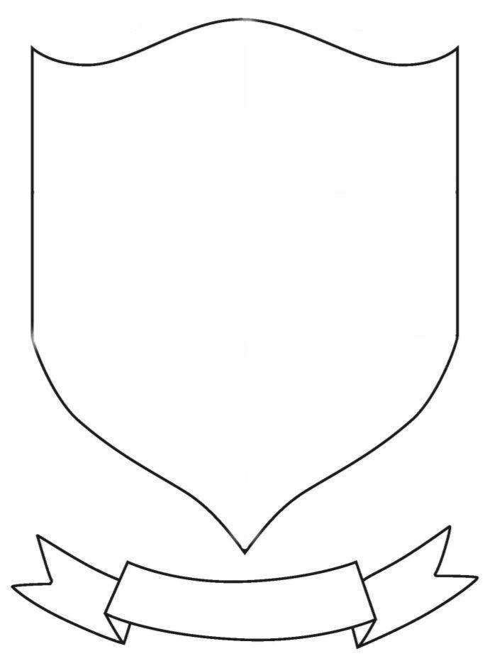 Герб семьи раскраска распечатать