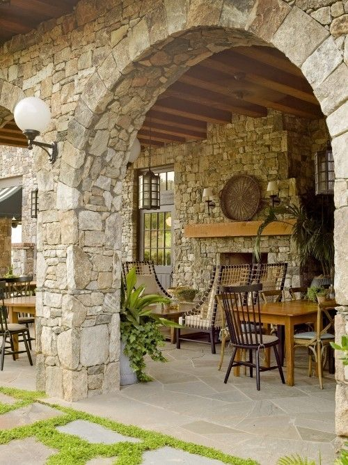 amazing stonework for the porch