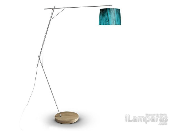 Woody lampara de pie 1xe27 100w azul (WOO77PFO000B-000) - Slamp / iLamparas.com