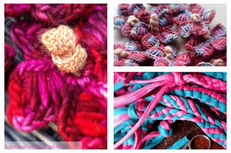 crochet flower, mallow flower