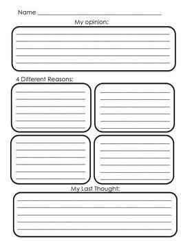 OPINION WRITING GRAPHIC ORGANIZERS FREEBIE - TeachersPayTeachers.com