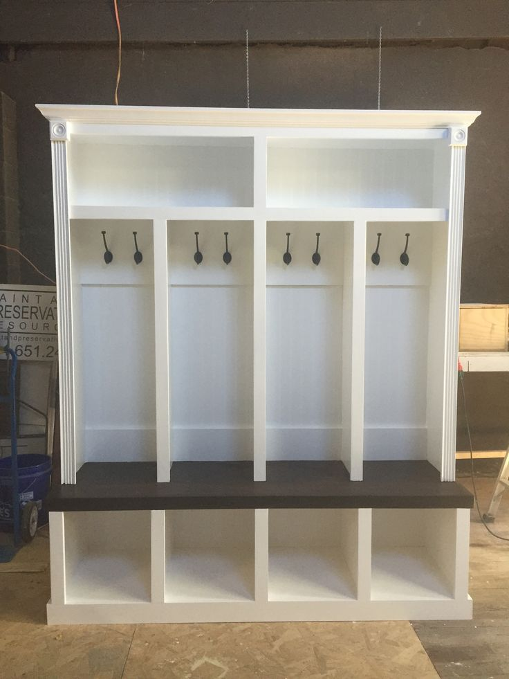 Entryway locker Dropzone for Mudroom - 4 Cubby