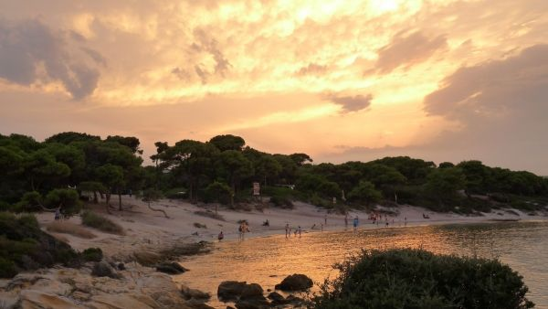 Sunset at Karydi beach