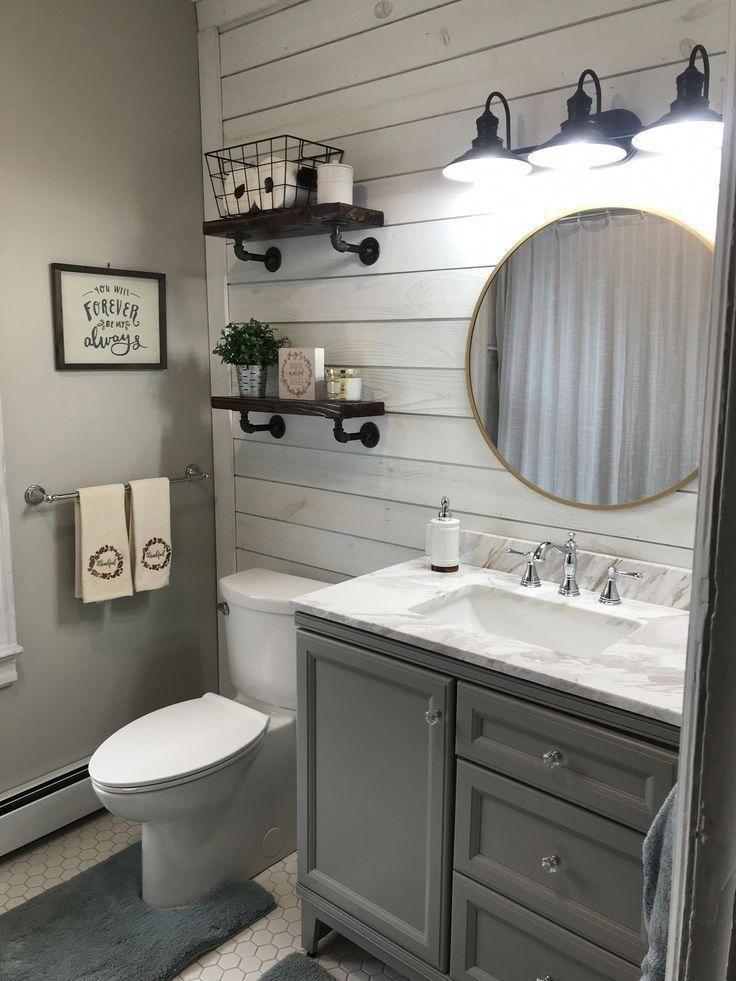 21+ Farmhouse bathrooms with shiplap type
