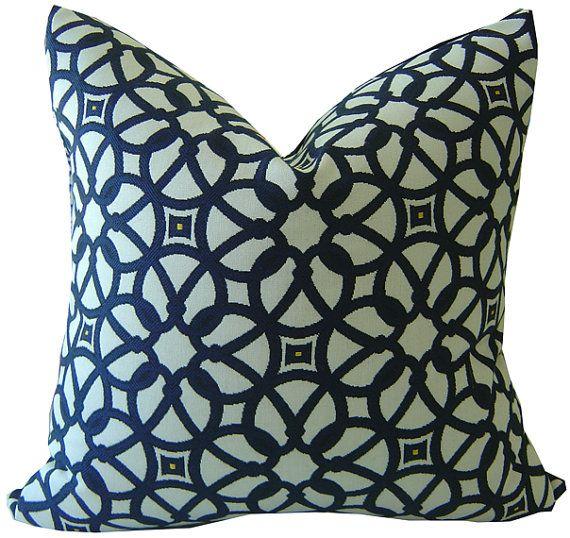 Navy Outdoor Pillows   Sunbrella Pillows   Navy Pillows   Outdoor Navy  Pillows   Sunbrella Luxe   Outdoor Throw Pillows   PILLOW COVER ONLY