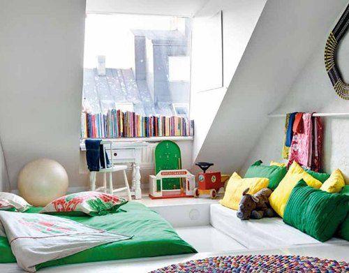 kamar tidur remaja di loteng