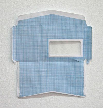 art-documents: kiameku: Ignacio Uriarte Envelope 2003 torn up envelope 27.6 x 25.4 cmIgnacio Uriarte