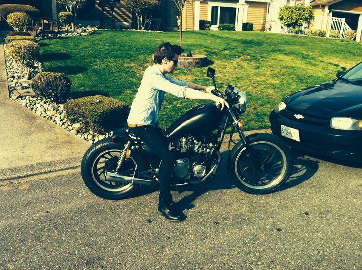 My bro in law on my bike