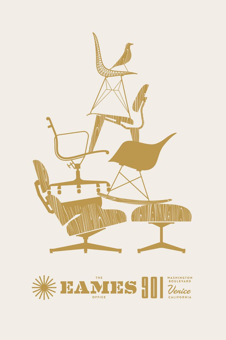 EAMES poster by J Fletcher design... who my little Yorkies, Eames, is named after... such high style! <3