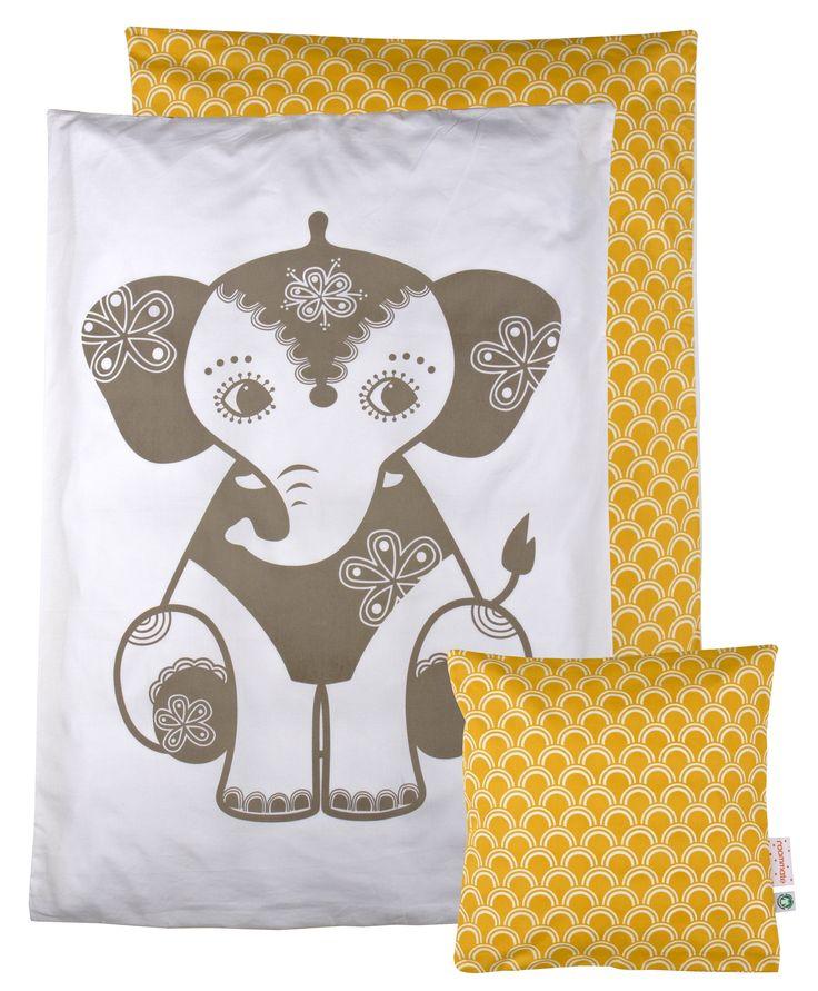 SoulMate sengetøj junior med gul elefant fra roommate