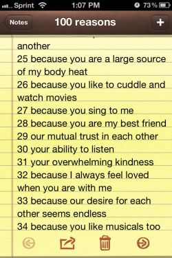 100 reasons why i love you | Tumblr                                                                                                                                                                                 More