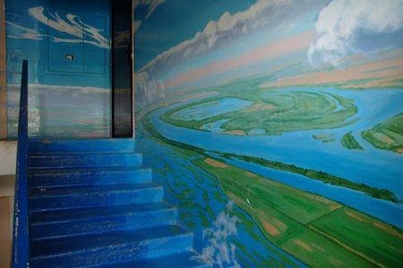 Астраханский подъезд. Художник Борис Черниченко превратил стены лестничной клетки в потрясающую галерею | Астраханские новости