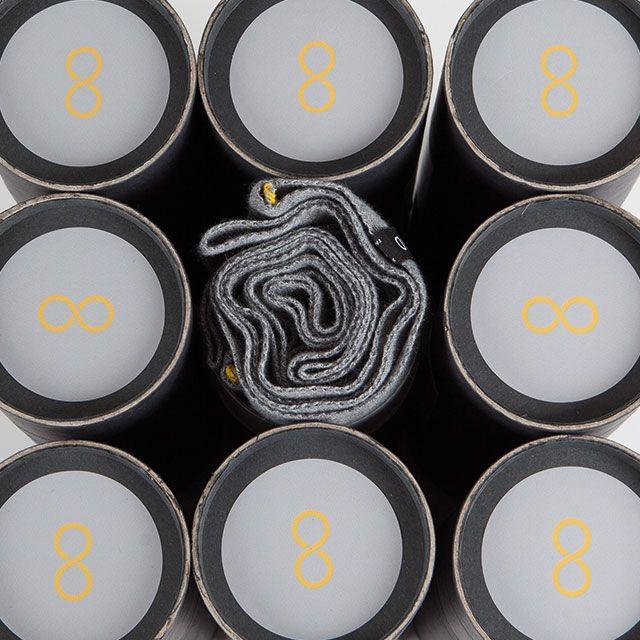 Snood Gris souris & Jaune bouton d'or - Écharpe tubulaire 100% Française - https://snood.fr/la-gamme/11-gris-souris-jaune-bouton-dor.html