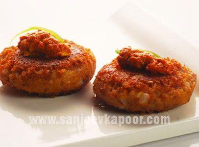 Leftover Rajma Tikki Recipe - Leftover rajma made good with these delicious tikkis.