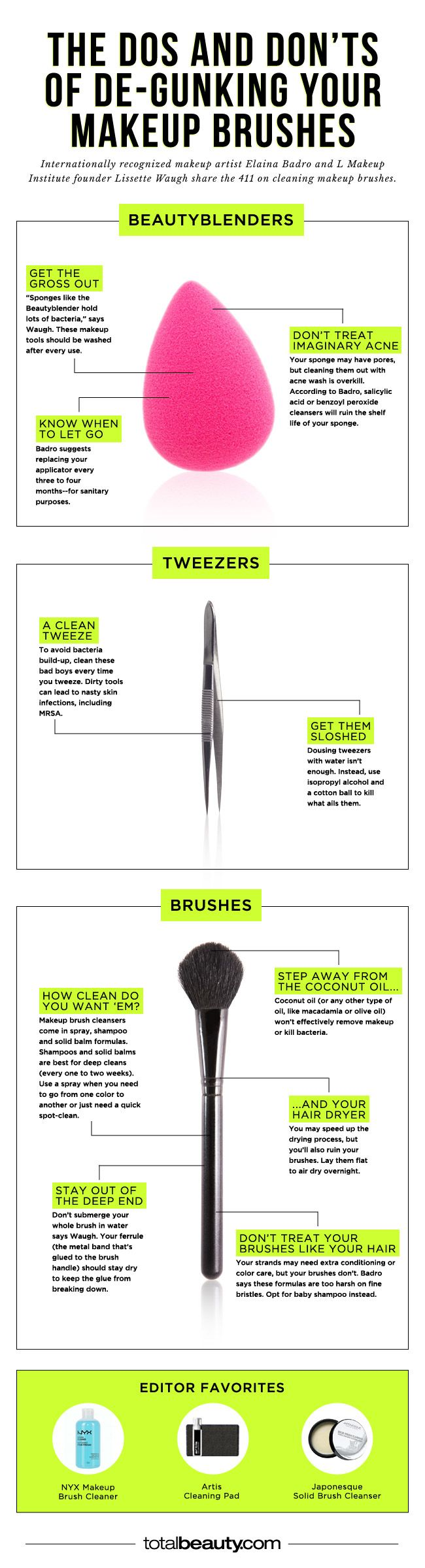 You're Making These Mistakes When Cleaning Your Makeup Brushes #beauty #tools #beautytools