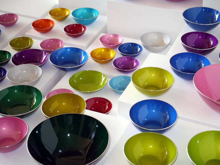 Set of 52 Emalox Bowls by Bjorn Engo, Norway, circa 1960 | From a unique collection of antique and modern bowls at https://www.1stdibs.com/furniture/dining-entertaining/bowls/