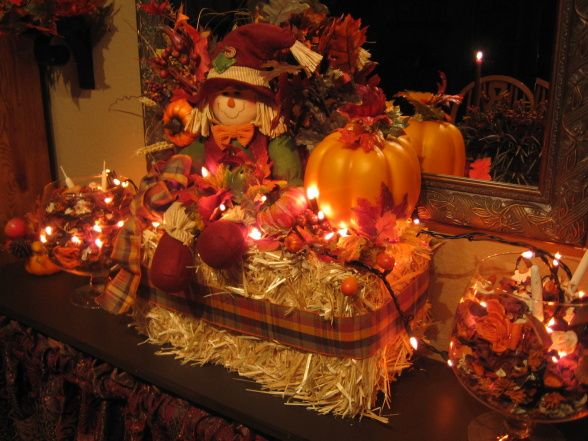 Tis Autumn Living Room Fall Decor Ideas: Living Room With Fall Decorating Touches, This Was