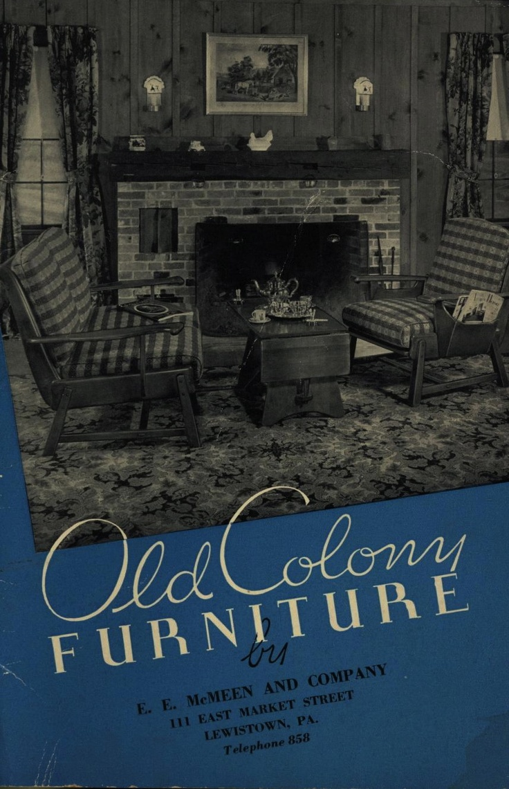 Old Colony Furniture, 1937. Haywood Wakefield Furniture Co. From The  Association For Preservation