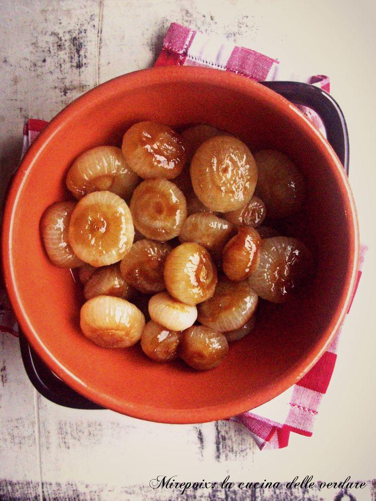 Cipolline+caramellate+alla+salsa+di+soia,+ricetta+contorno.