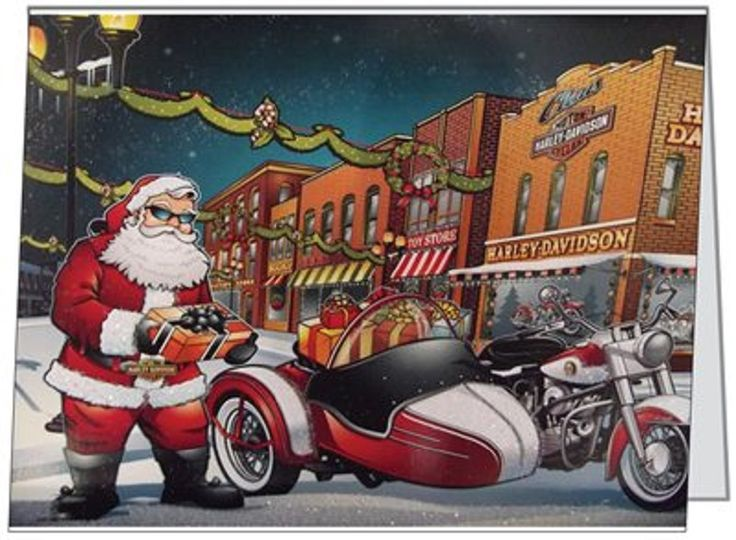 91 best christmas cards images on pinterest christmas greetings your words business personal motorcycle harley santa custom christmas cards usa reheart Choice Image