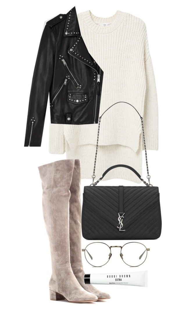 """Untitled #20230"" by florencia95 ❤ liked on Polyvore featuring Linda Farrow, MANGO, Gianvito Rossi, AllSaints, Bobbi Brown Cosmetics and Yves Saint Laurent"