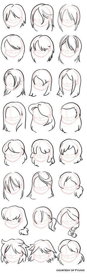 Cartoon hairstyles: Cartoon Drawing Tutorial, Art Drawing, Hair ...
