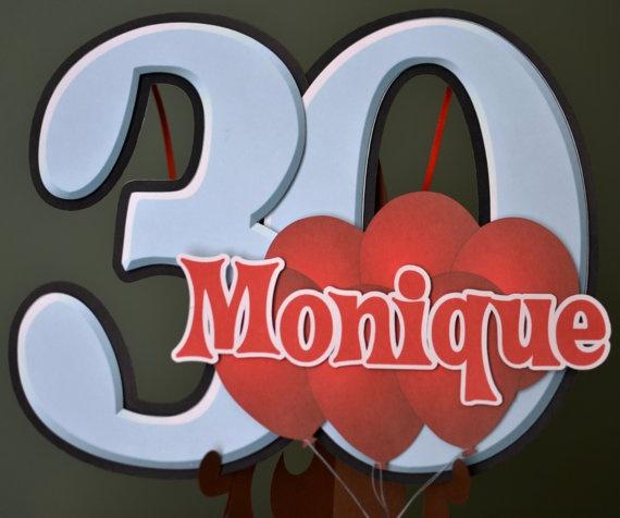 Door Sign Balloon Birthday Party Decoration 16th, 20th, 21st, 30th, 40th, 50th, 60th, 70th by bcpaperdesigns #birthdayparty #birthday #ideas #decoration