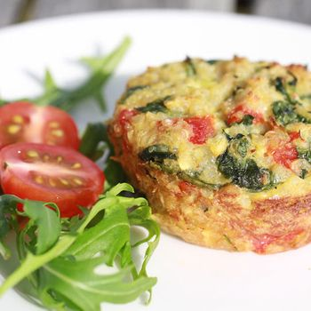 Quinoa & four veg cakes