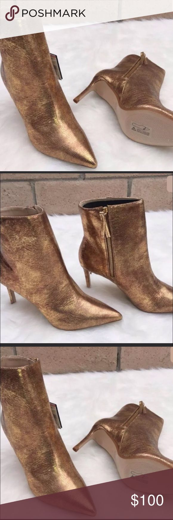 17 best ideas about Gold Ankle Boots on Pinterest | Pretty heels ...