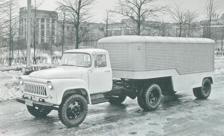 ГАЗ-52П с полуприцепом фургоном ... 1982 г. / 1982 GAZ-52P with a semi-trailer truck