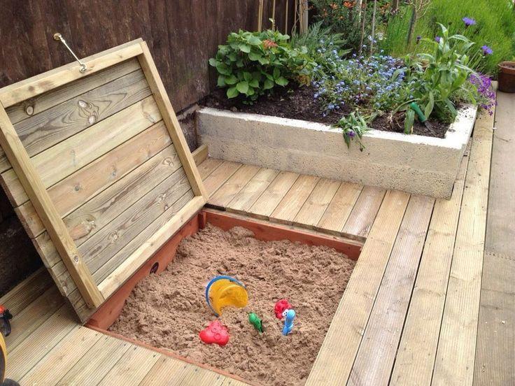 Shed Plans - Sandpit in the decking! - Now You Can Build ANY Shed In A Weekend Even If You've Zero Woodworking Experience! #shedbuildingplans