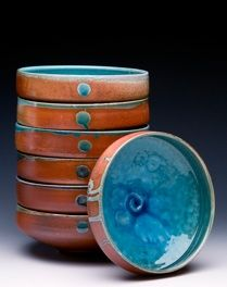 Stacked bowls. Laura Ross artists website with beautiful gallery images!