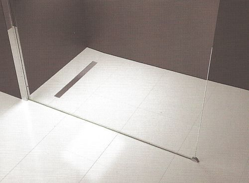 Novellini Duo Deck prefabricated wet room floor former with linear waste outlet