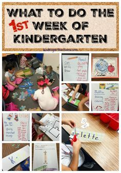 This blog post is full of ideas for the First Week of Kindergarten. Includes book suggestions, activities, and links to accompanying ideas.