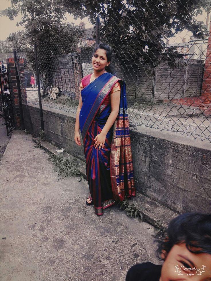 beautiful half and half saree... #saree #mallu #longhair #indian #halfandhalf