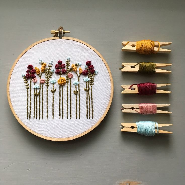 Wildflower Embroidery Kits are now available in the shop!