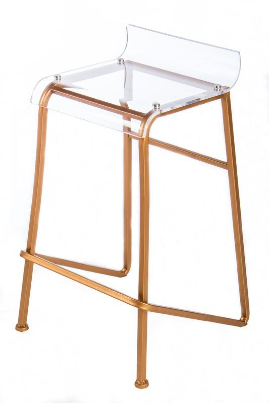 Statements by J Acrylic Counter Stool & Reviews | Wayfair