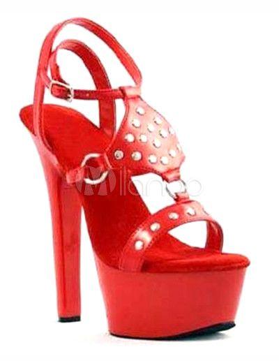 #Milanoo.com Ltd          #Sexy Sandals             #Fashion #Platform #9/10'' #High #Heel #Patent #Leather #Womens #Sexy #Heels  Fashion Red 2'' Platform 5 9/10'' High Heel Patent Leather Womens Sexy Heels                            http://www.seapai.com/product.aspx?PID=5682423