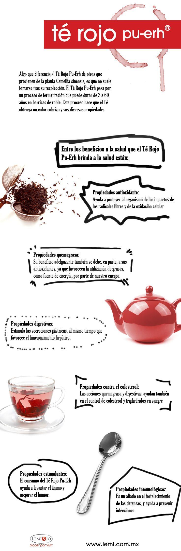Infografía: Beneficios del Té Rojo Pu-Erh #salud y #bienestar http://lemi.com.mx