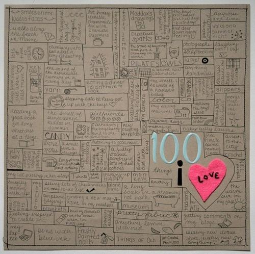 100 things I love.