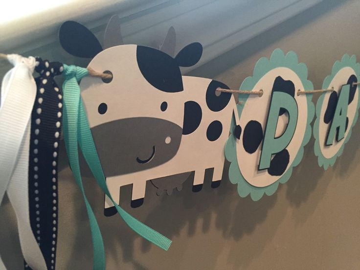 Cow Birthday Banner, Milk and Cookies Party, Baby Shower Banner, First Birthday Party, Cow Themed Party Decor by TookiesLLC on Etsy https://www.etsy.com/listing/260428738/cow-birthday-banner-milk-and-cookies