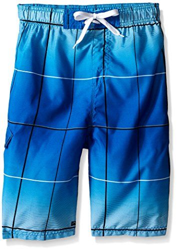 Kanu Surf Boys Vector Plaid Swim Trunks * For more information, visit http://www.myvacationdestinations.com/store/kanu-surf-boys-vector-plaid-swim-trunks/?st=040716052938