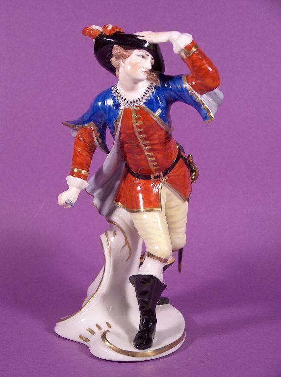 Top Nymphenburg Porzellan Figur Capitano Commedia dell´Arte F. A. Bustelli