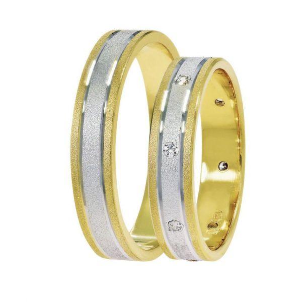 Βέρες γάμου Stergiadis δίχρωμο  χρυσό Κ14 SAT-6YWY520