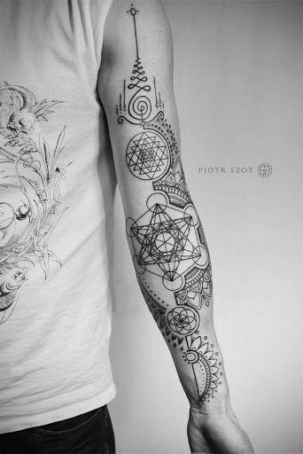 Geométricas espiritual formas braço de tatuagem http://tatuagens247.blogspot.com/2016/08/outlaw-tatuagem-ideias-para-homens.html