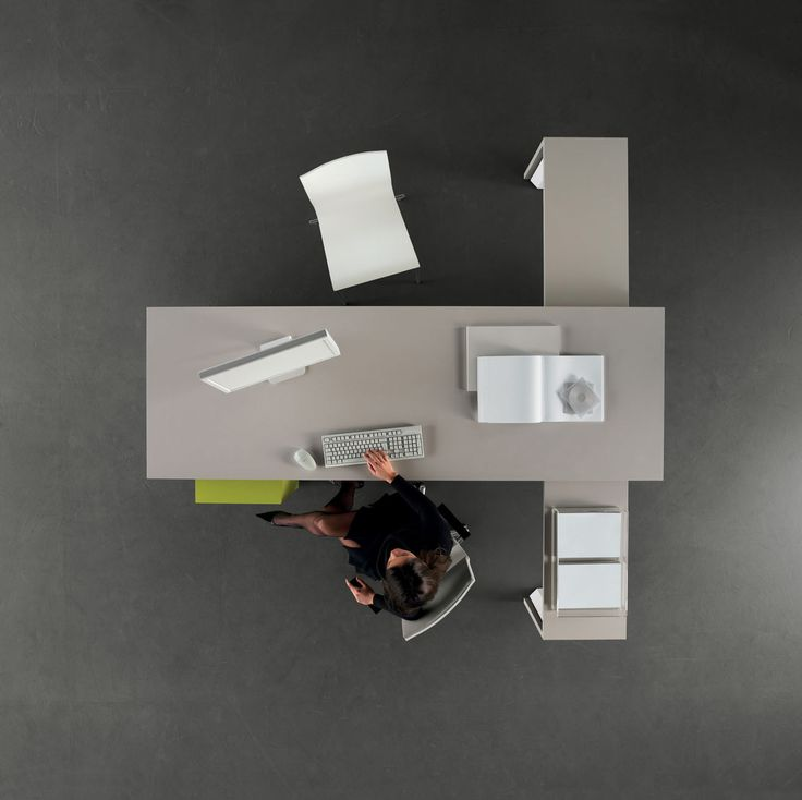 designer office desk isolated objects top view. tre corner desk top view order now from spaceist designer office isolated objects e
