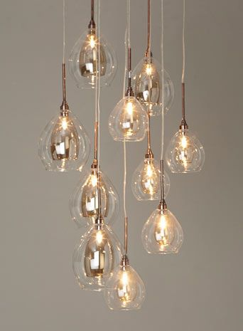 727 best pendant lights images on pinterest chandeliers light bhs illuminate atelier carmella 10 light cluster glass and copper cluster ceiling light dining room aloadofball Gallery